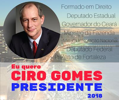Resultado de imagem para Ciro gomes presidente