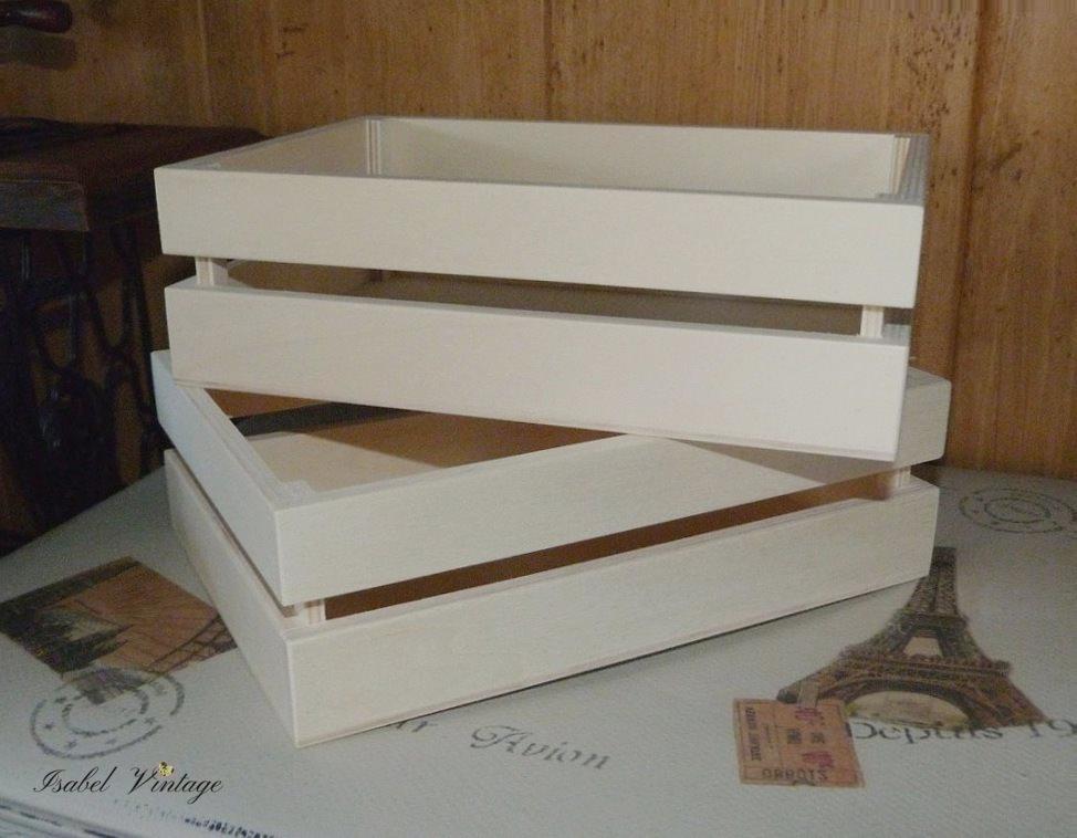 Cajas de fruta shabby chic isabel vintage - Cajas madera fruta ...