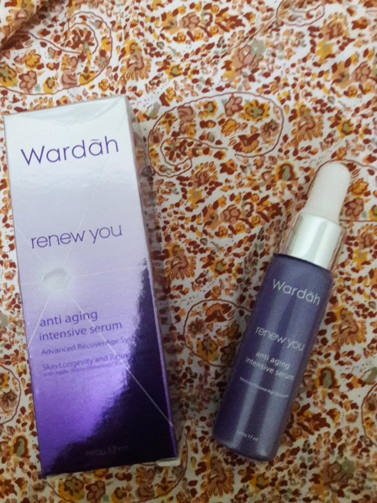 Wardah Renew You Anti Aging Intensive Serum Update Daftar Harga Night Cream 30 G Untuk Kemasan Dan Ingredients Bisa Di Lihat Pict
