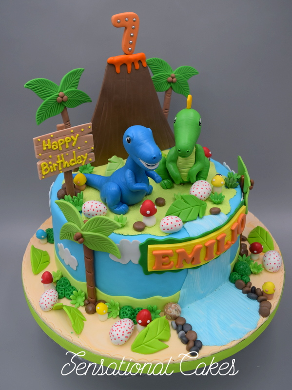 The Sensational Cakes Dinosaur Volcano theme 3D cake Singapore