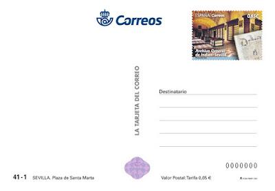 Filatelia - Tarjeta Postal - Plaza de Santa Marta (Sevilla) Reverso - 31.10.2018
