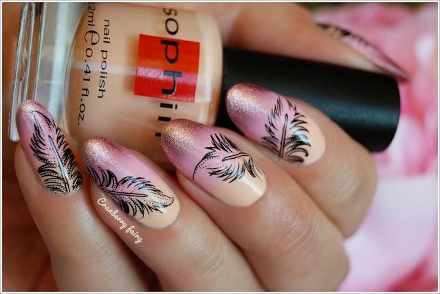 pastelowy gradient na paznokciach