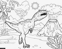 Tyrannosaurus Rex Coloring Sheet For Kids
