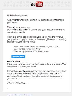 Youtube music copyright warning