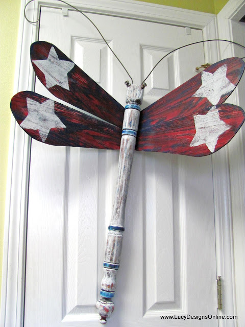 patriotic dragonfly art