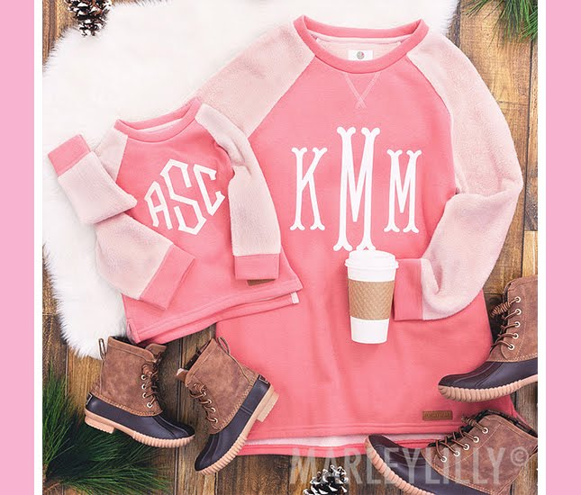 monogram outfit for you and your daughter