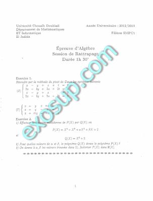sujet des examens SMPC S1 FSJ v 14-15