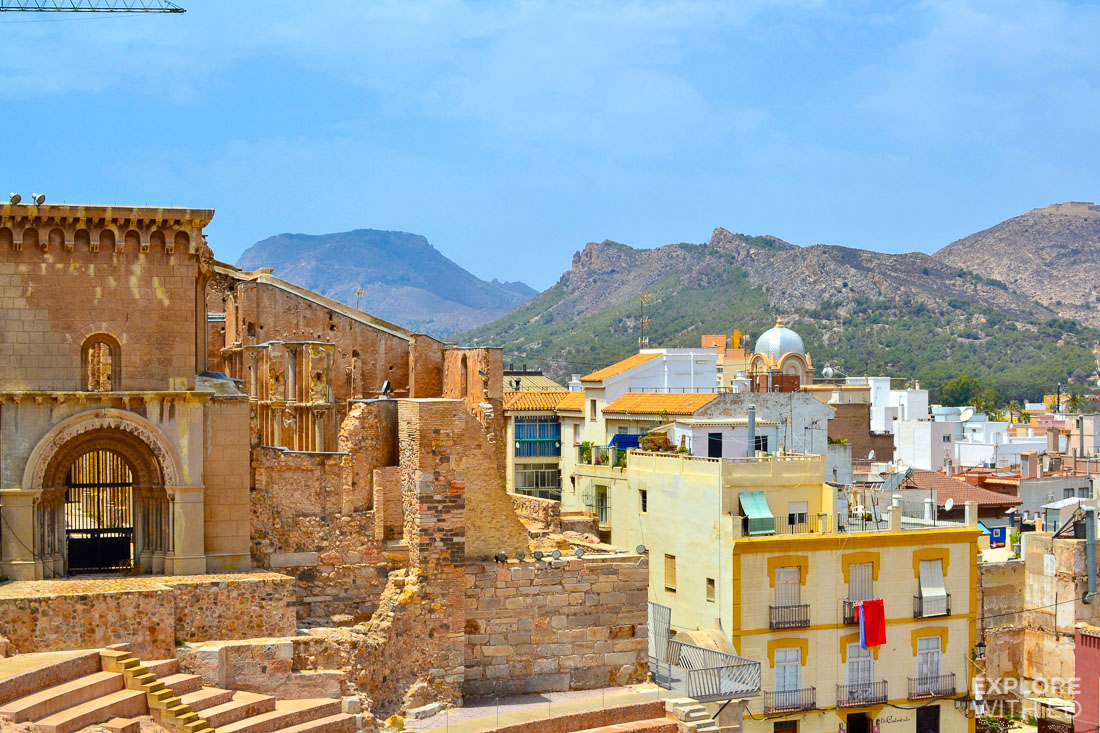 Roman Amphitheatre remains and museum in the Spanish city of Cartagena