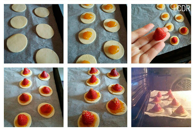 Receta de tartaletas de hojaldre con fresas y naranja 02