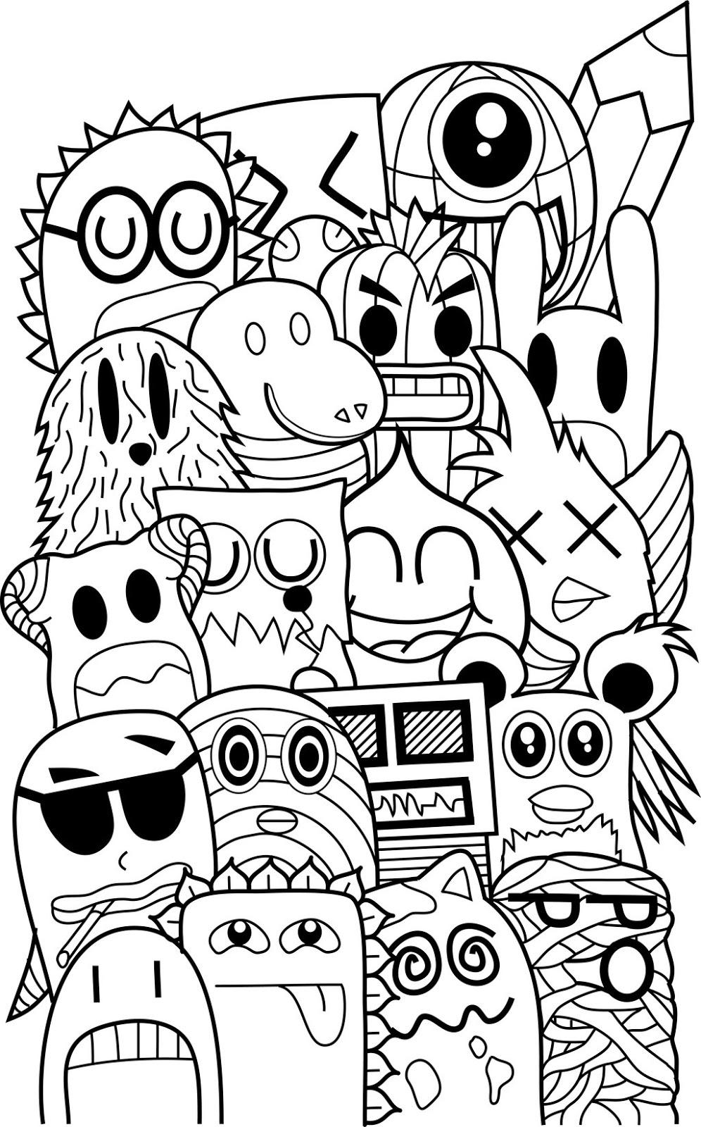 Doodle monster II - graffitipicart