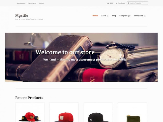 WordPress Ecommerce Themes - Mystile