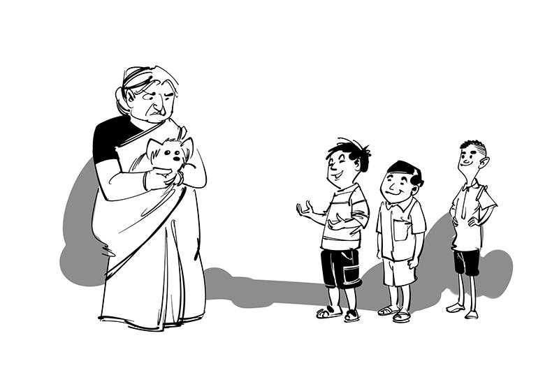 cartoon kids funny book illustration