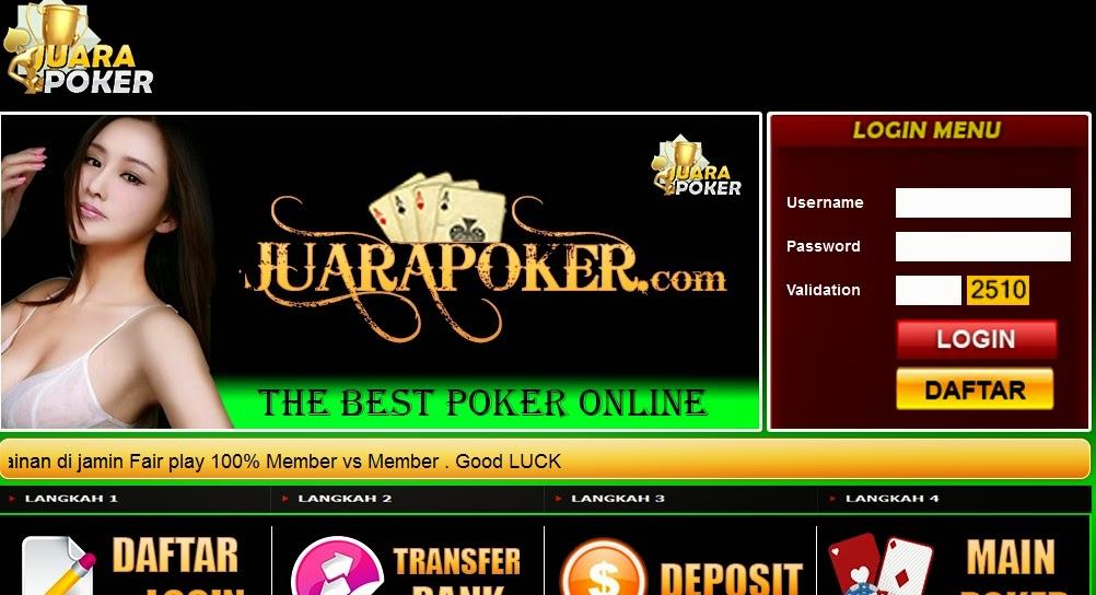 JUARA POKER Situs Poker Line Uang Asli Terpercaya