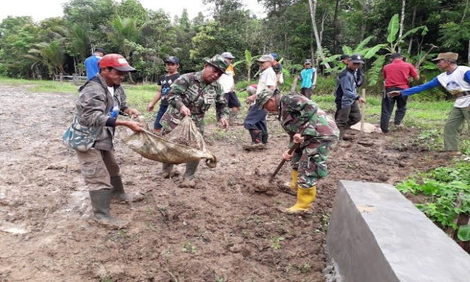 Bersama Warga, Satgas TMMD Kodim 0601/Pandelang Rampungkan Pembangunan Jalan