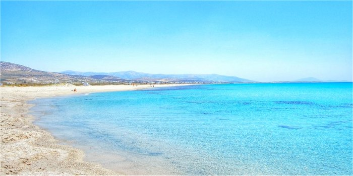 Spiagge della costa ovest di Naxos (Grecia)