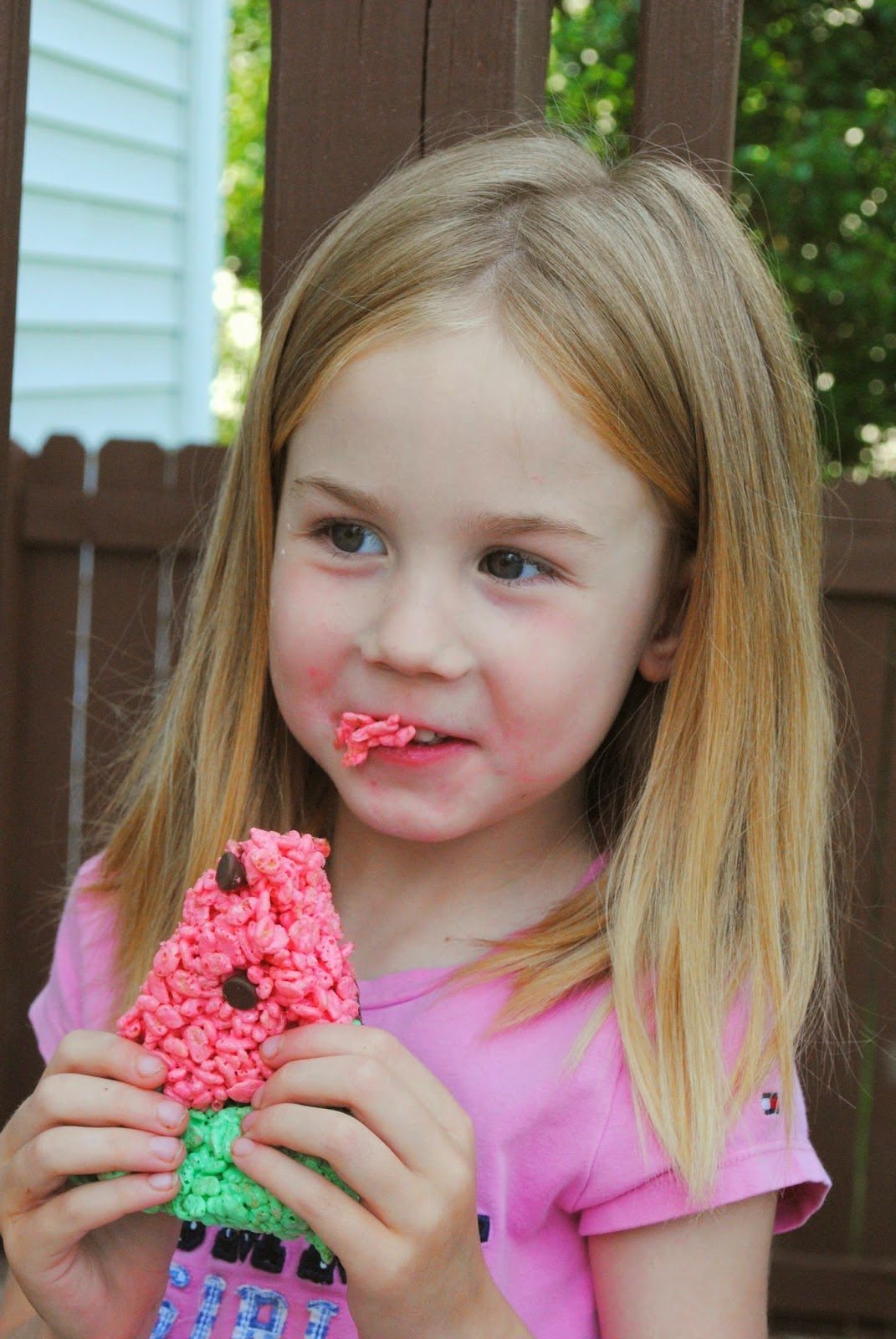 Watermelon Rice Krispie Treats
