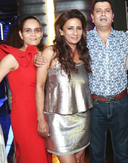 Preeti Singh, Designer Pam Mehta and Sameer Mehta