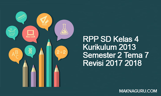 RPP SD Kelas 4 Kurikulum 2013 Semester 2 Tema 7 Revisi 2017 2018