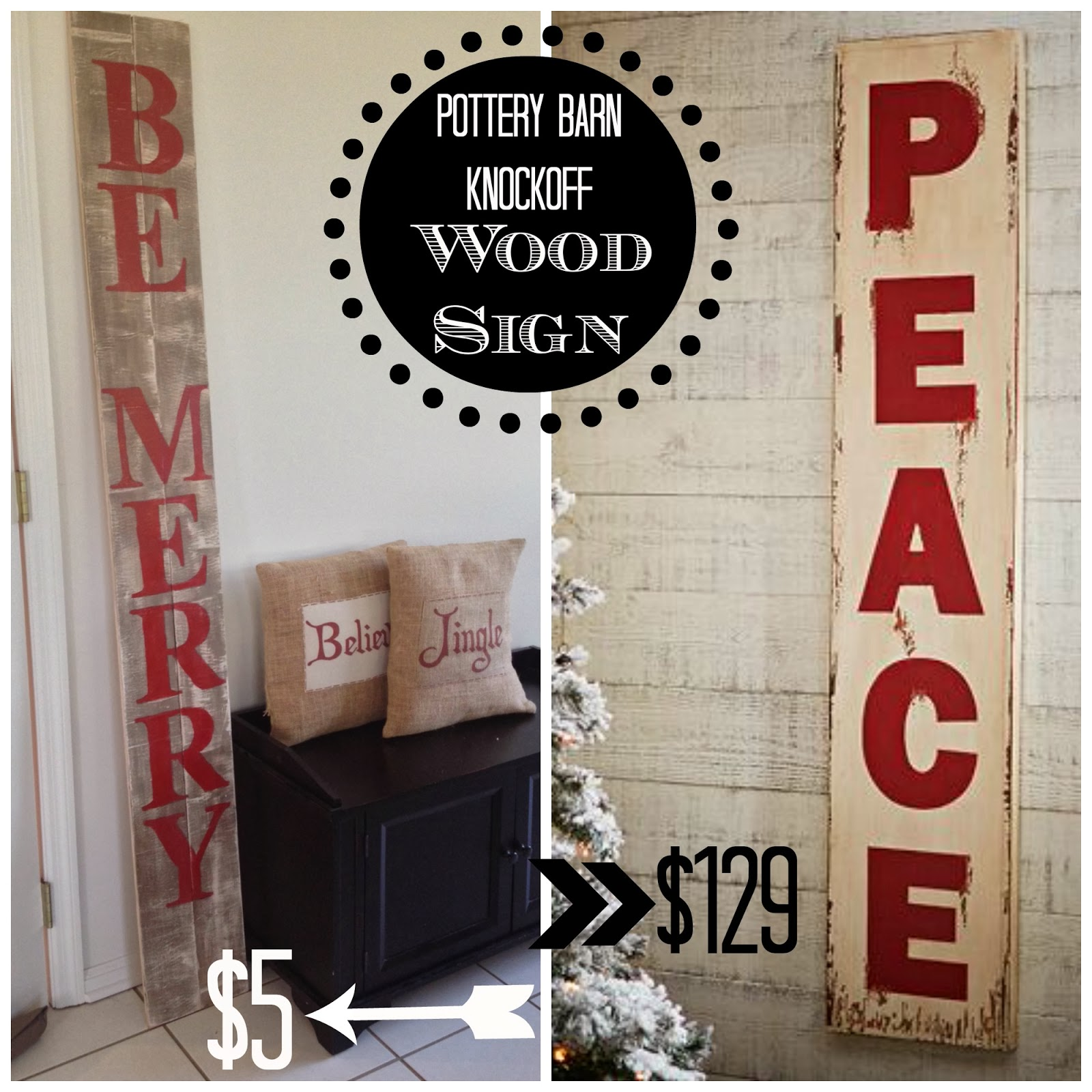 pottery barn knockoff oversized wood sign silhouette tutorial silhouette studio - Christmas Wooden Signs
