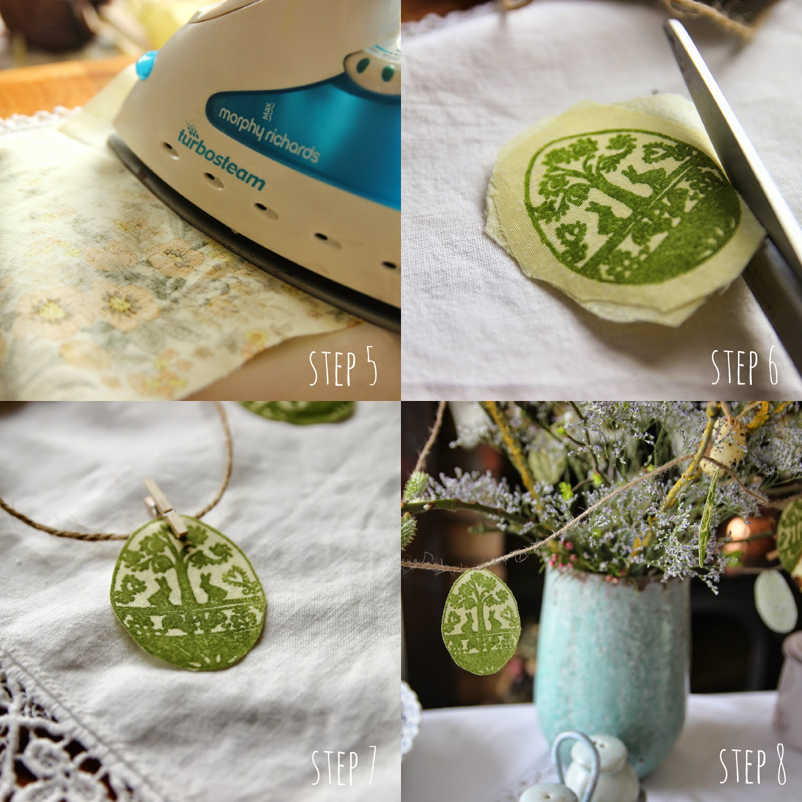 How to make easter bunting - with Noolibird stamp