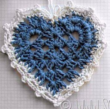 Patrón 1045 Figura Corazón a Crochet