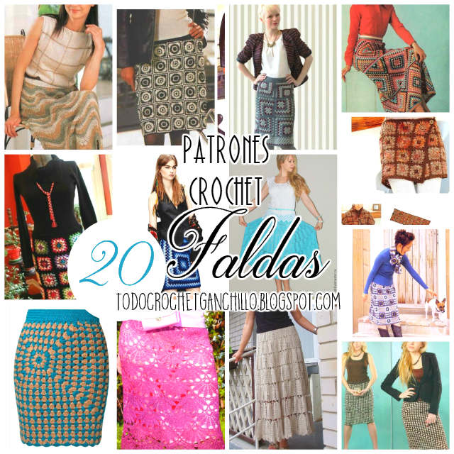 4b8beeab1 20 Faldas para tejer con Ganchillo / patrones y moldes
