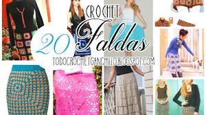 20 Faldas para tejer con Ganchillo / patrones y moldes