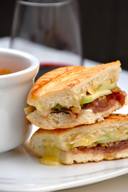 Prosciutto, Apple + Brie Paninis | The Savvy Spoon