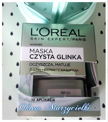 Maska Czysta Glinka (oczyszcza, matuje) 3 glinki + ekstrakt z eukaliptusa, L'oreal- recenzja #47
