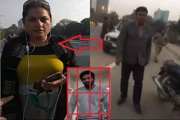 gurugram-police-arrested-female-supporter-of-bobby-kataria-from-sadar