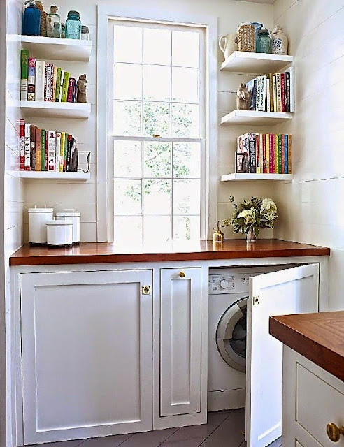 Hidden Laundry Cabinets