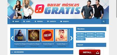Template Blogger Baixar Musicas gratis