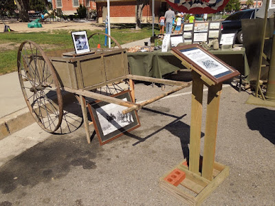 Camp Roberts Historical Museum Exhibit Army Push Cart, © B. Radisavljevic