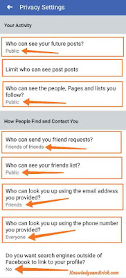 Facebook Privacy Settings Kaise Kare Hindi