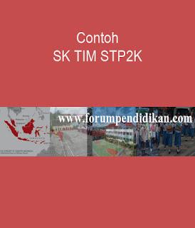 Contoh SK TIM STP2K | Kesiswaan