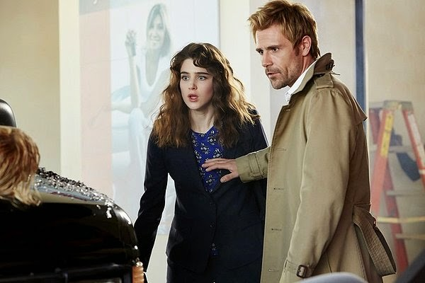 Lucy Griffiths as Liv Aberdine with Matt Ryan as John Constantine in NBC Constantine Season 1 Pilot Episode Non Est Asylum