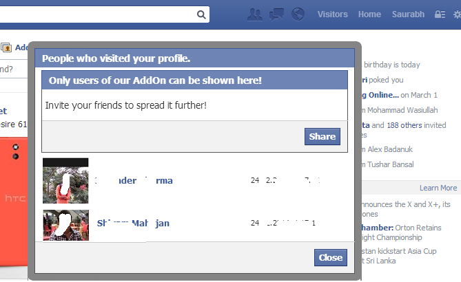 كيف تضيف قسم أعلى الفيسبوك لمعرفة من زار بروفايلك بالوقت