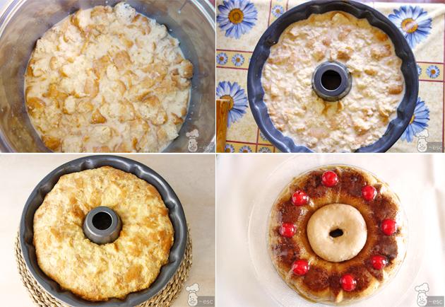 Pudin o budin de donuts muy fácil de hacer