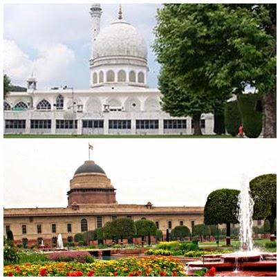 Masjid suci Hazrat Bal dan Mughal Garden