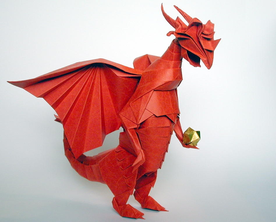 Origami Eastern dragon by Jun Maekawa Folded from a square of ... | 764x948