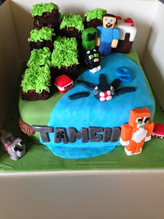 #Minecraft cake with Stampy