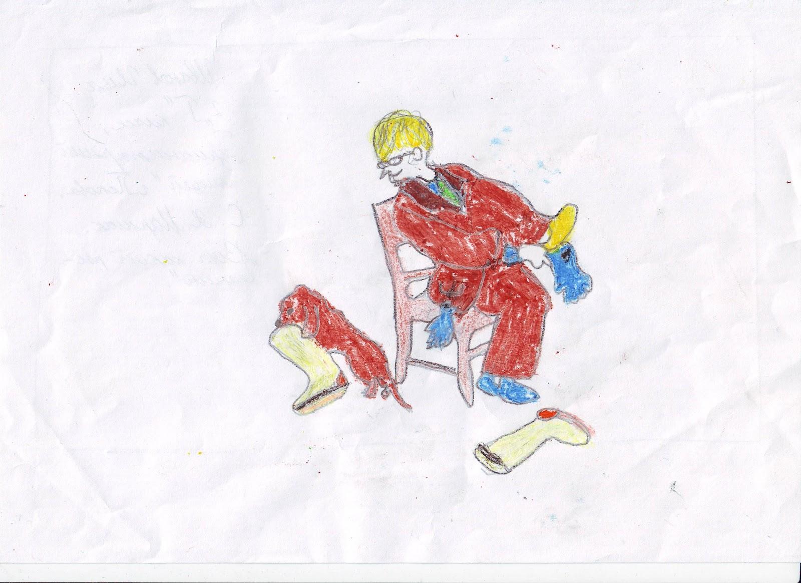 Рисунок маршака карандашом