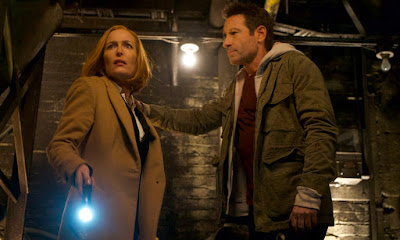 Gillian Anderson and David Duchovny in the series finale of The X-Files My Struggle IV