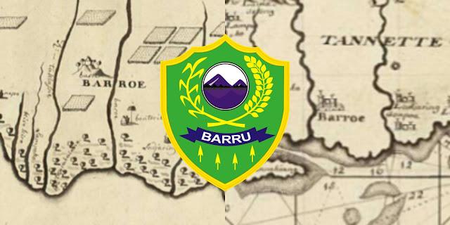 Peta kuno Barru dan Lambang Kabupaten Barru