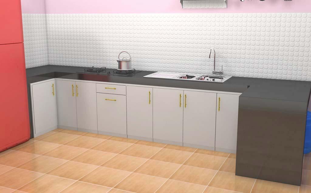 Meja dapur keramik kitchen set semarang for Pintu kitchen set