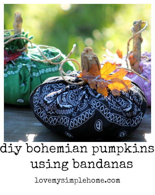 how-to-make-bohemian-style-bandana-pumpkins-love-my-simple-home
