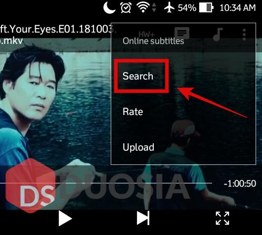 cara mencari subtitle film di android