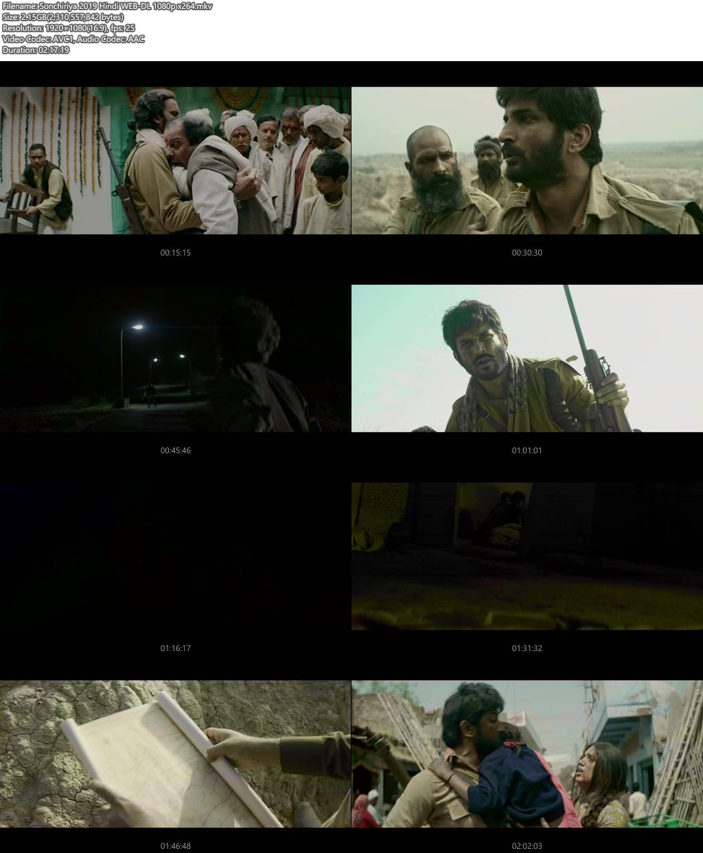 Sonchiriya 2019 Hindi WEB-DL 1080p x264   480p 300MB   100MB HEVC Screenshot