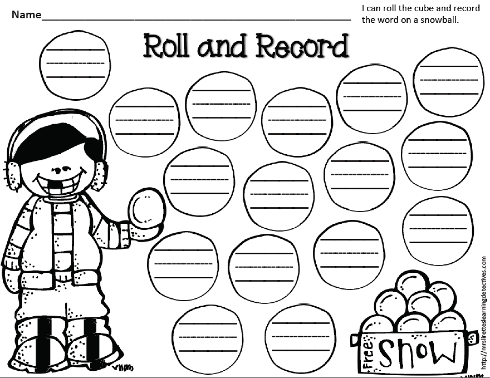 Mrs. Lirette's Learning Detectives: Winter Roll and Record