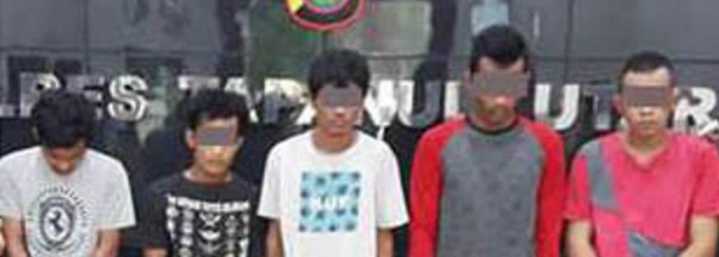Lima warga Siantar yang mencuri baterai di Taput.